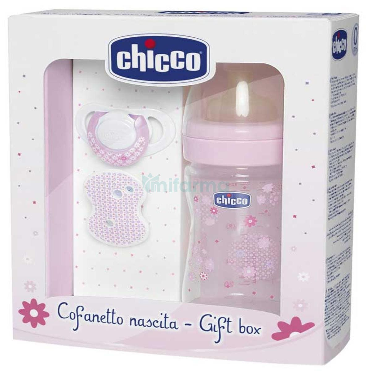 Chicco Set de Regalo Biberon Chupete Cadenita Color Rosa