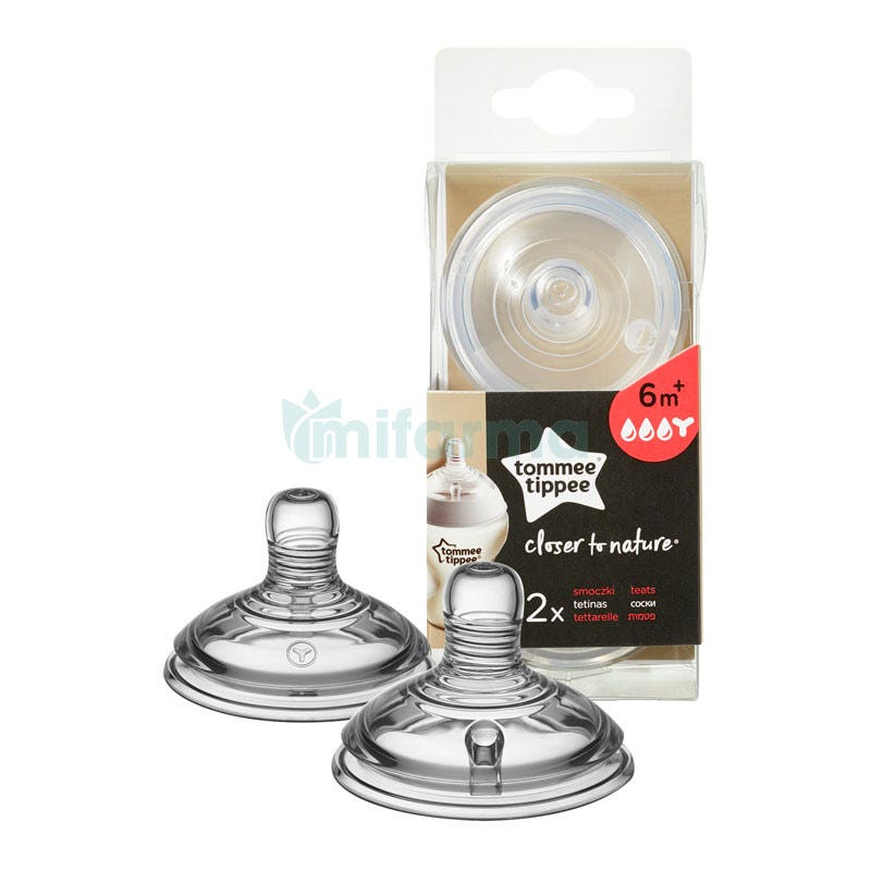 Tommee Tippee Tetinas Closer To Nature Flujo Cereales 6m 2Uds