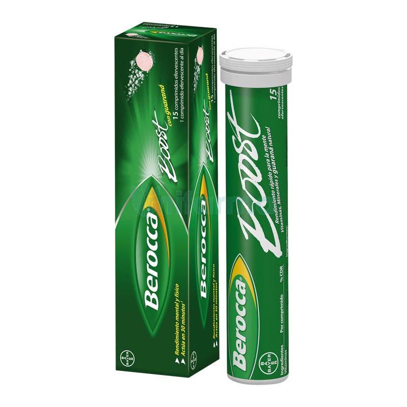 Berocca Boost Vitaminas Rendimiento 15 Comprimidos Efervescentes
