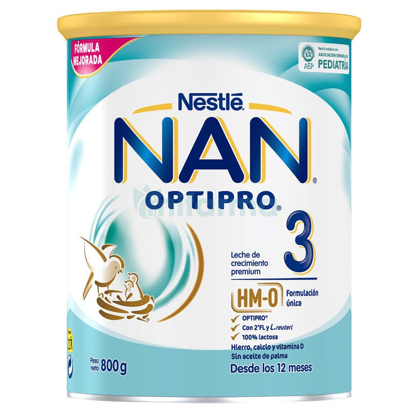 Nestle Nan Optipro 3 Leche Crecimiento 800 Gramos