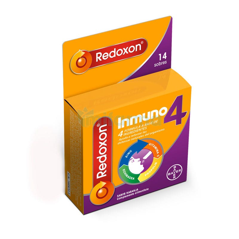 Redoxon Inmuno 4 Vitaminas y Defensas 14 Sobres