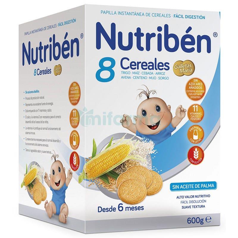 Nutriben 8 Cereales Galletas Maria 600 Gramos