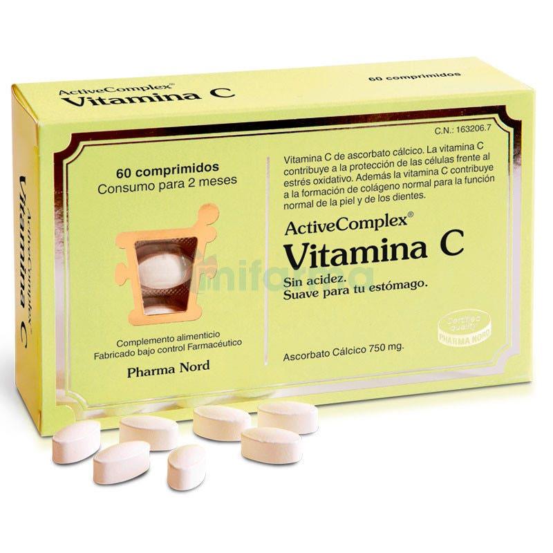 ActiveComplex Vitamina C Acido Ascorbico 60 Comprimidos