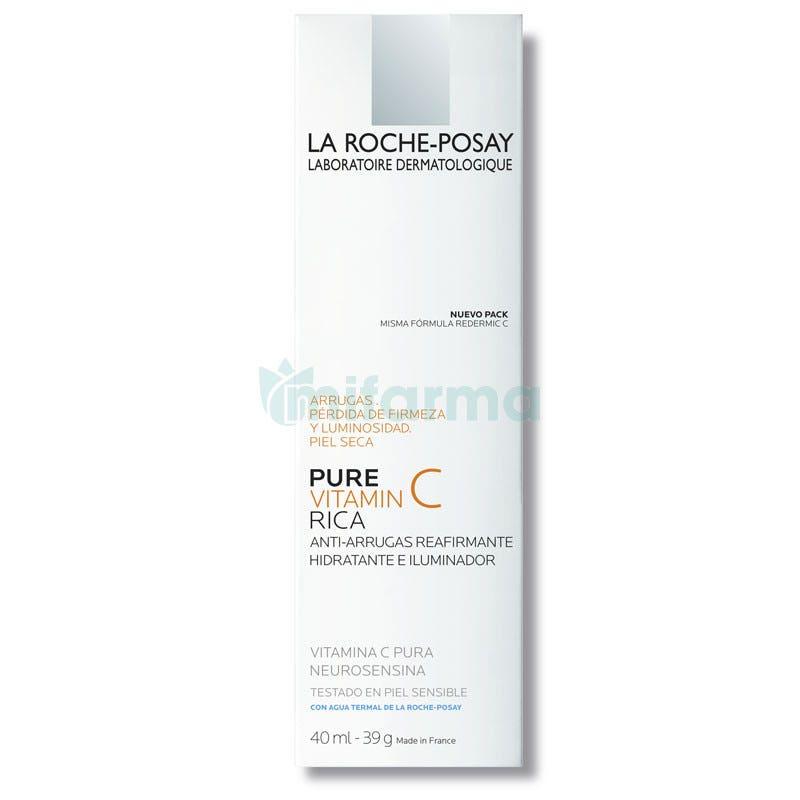 La Roche Posay Redermic C Tratamiento Antiarrugas Piel Seca 40ml