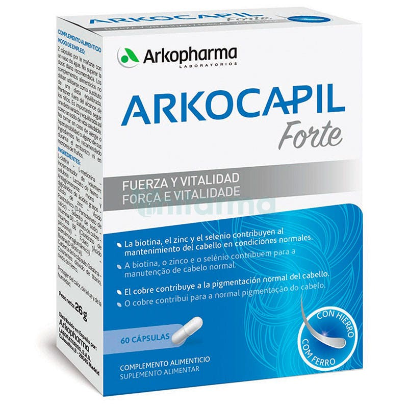 Arkopharma Arkocapil Advance Forte Vitalidad Capilar 60 Capsulas