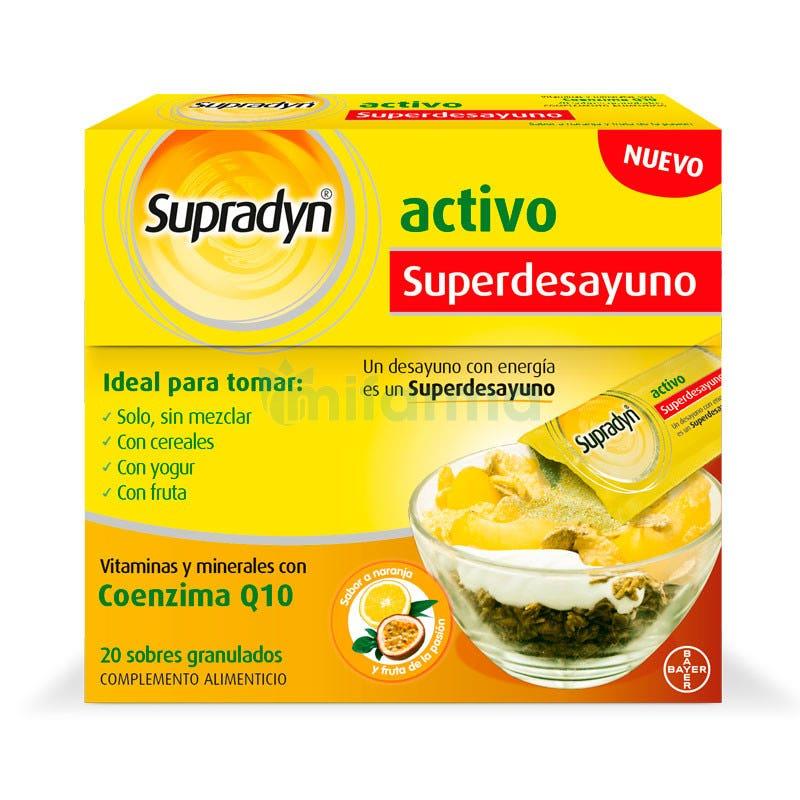 Supradyn Activo Superdesayuno Vitaminas 20 Sobres Granulados