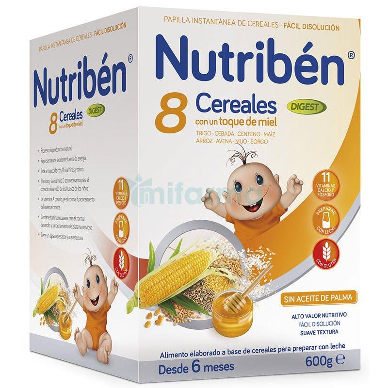 Papilla Nutriben 8 Cereales y Miel Digest 600Gr