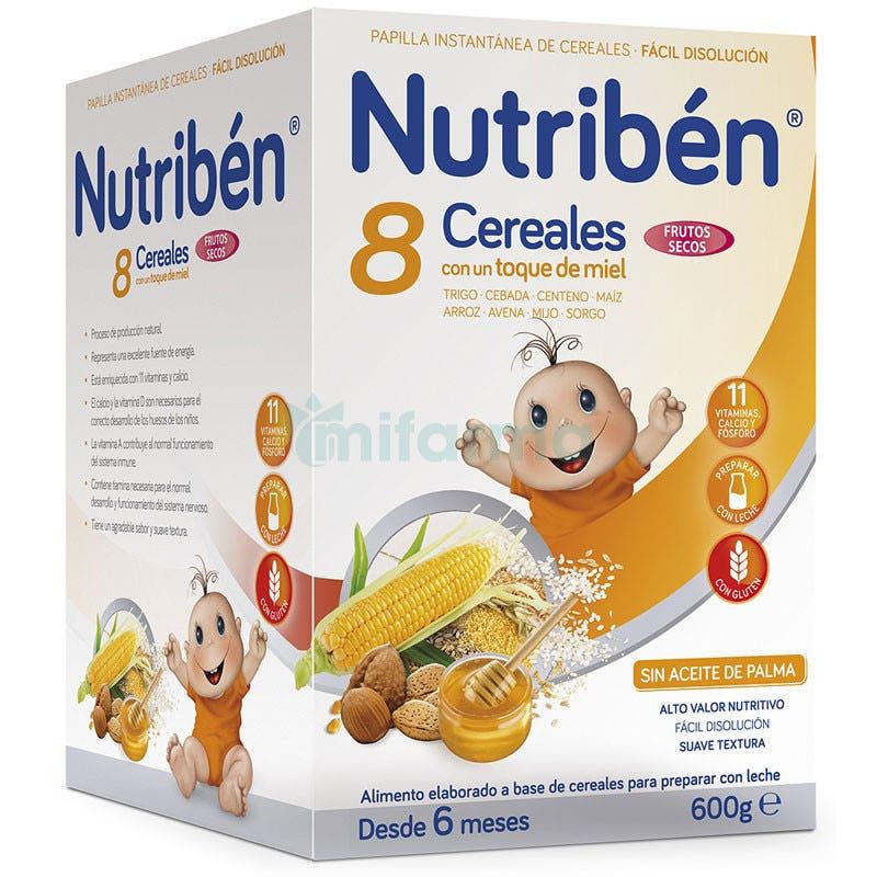 Nutriben 8 Cereales y Miel con Frutos Secos 600 Gramos