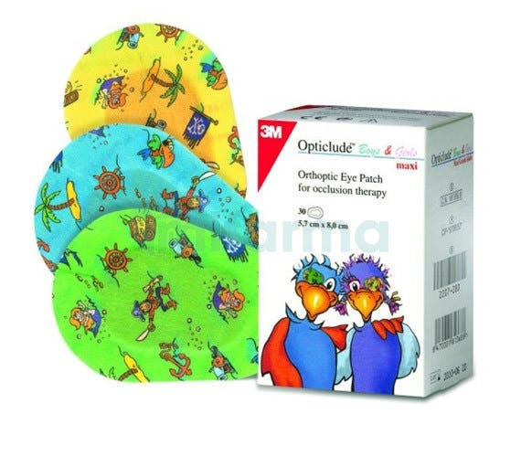 Parche Ocular OPTICLUDE Dibujos Grandes 30 parches