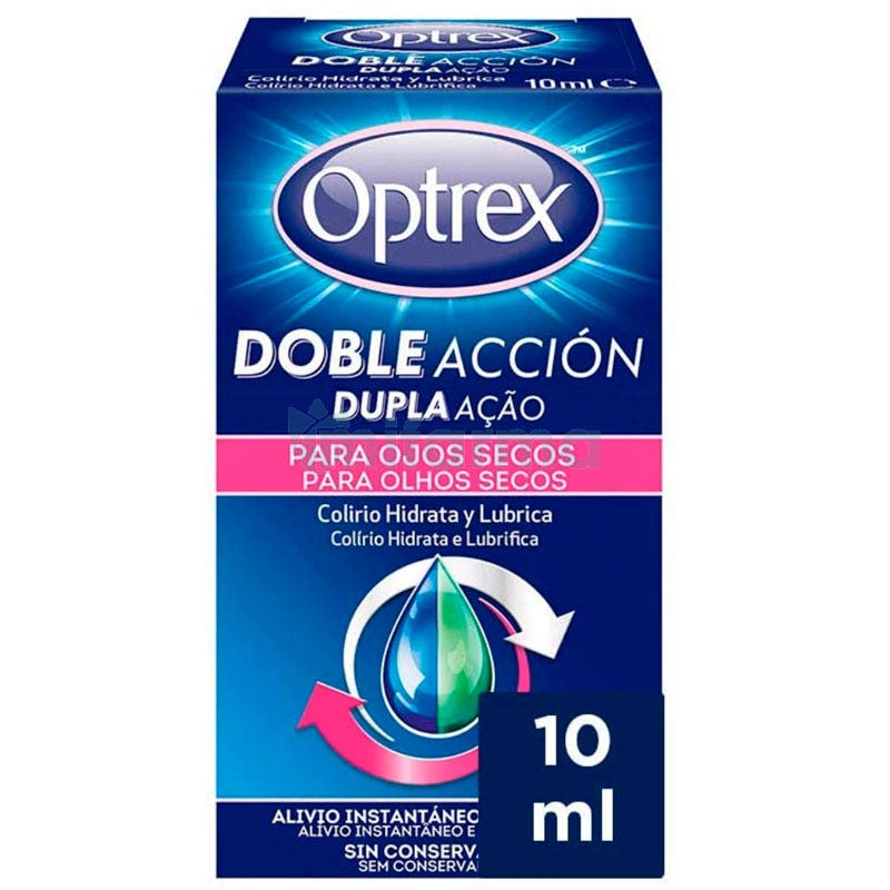 Colirio Ojos Secos Optrex Doble Accion 10ml