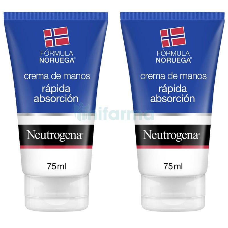 Neutrogena Crema de Manos Rapida Absorcion 75ml DUPLO