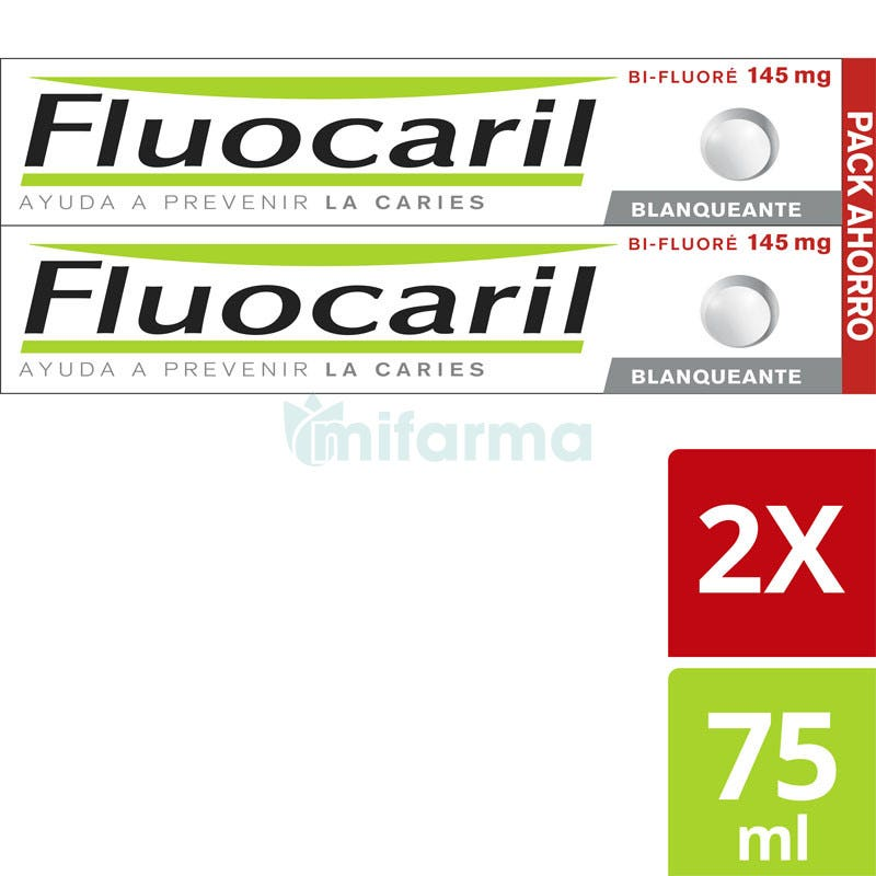 Fluocaril Pasta Dental Blanqueadora 75ml DUPLO