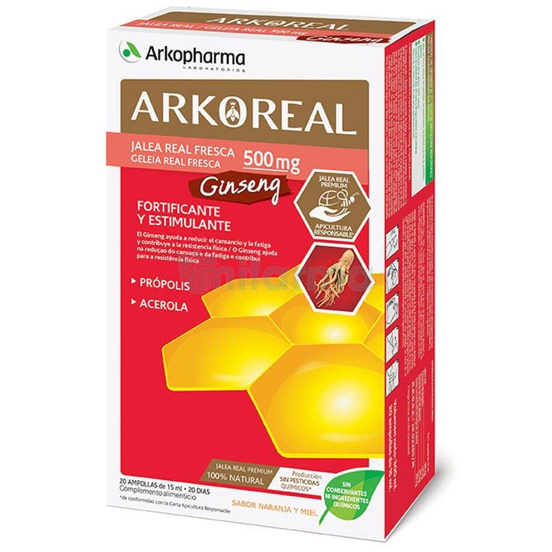 Jalea Real Ginseng ArkoReal 20 Ampollas