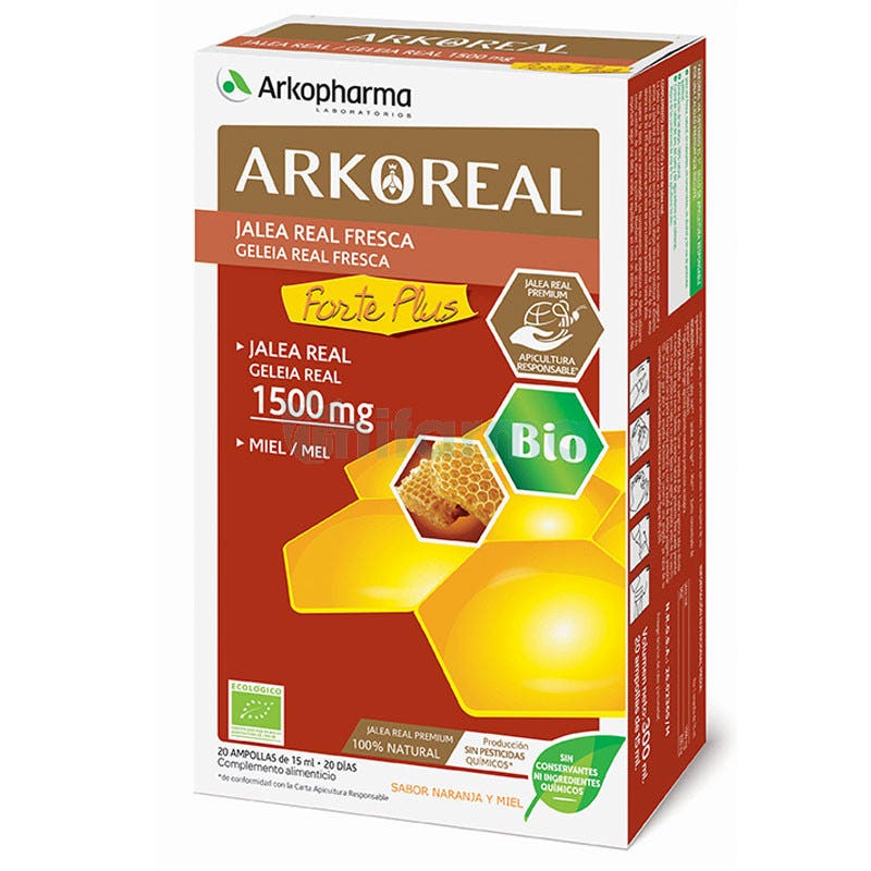 ArkoReal Jalea Real Forte Plus 1500 mg BIO 20 Ampollas