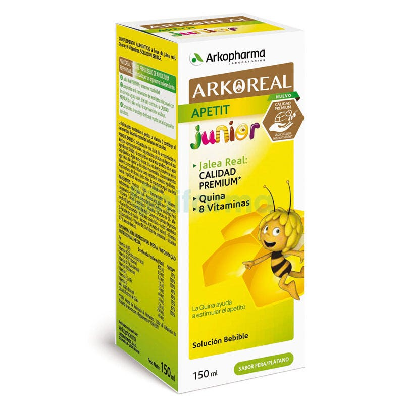 Arkoreal Apetit Jarabe Sabor Platano y Pera 150 ml