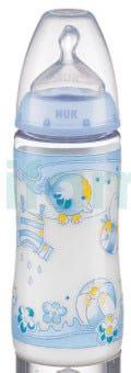 NUK First Choice Biberon Baby AZUL con Tetina de Silicona 300 ml