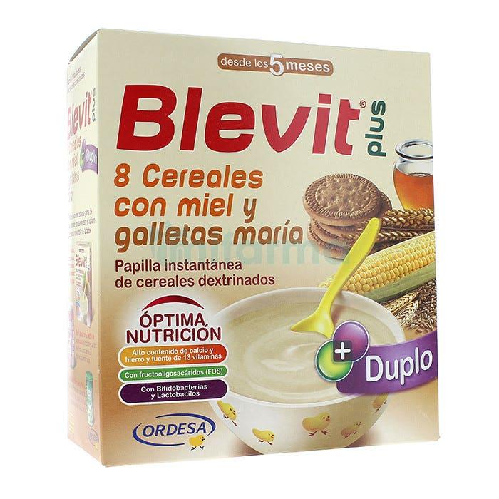 Blevit Plus Duplo 8 Cereales Con Miel y Galletas Maria 600 gramos 5m