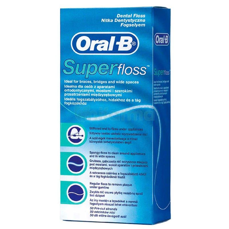 Oral B Seda Dental Super Floss 50 Hebras Precortadas