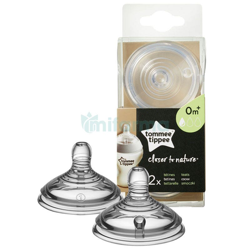 Tommee Tippee Tetina Closer To Nature Flujo Lento 0m 2Uds