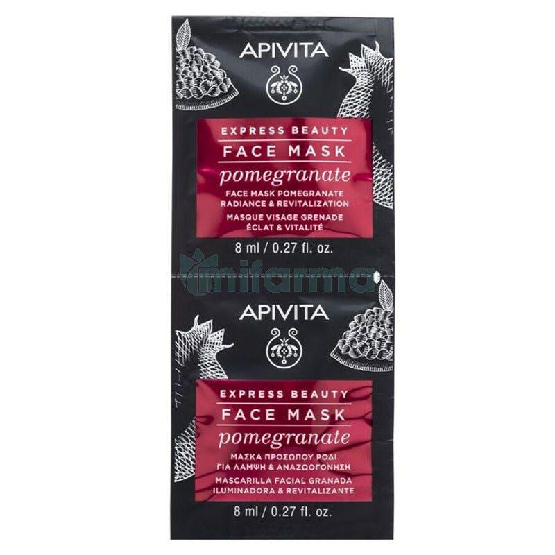 Apivita Express Beauty Mascarilla Revitalizante y Luminosidad con Granada 2x8ml