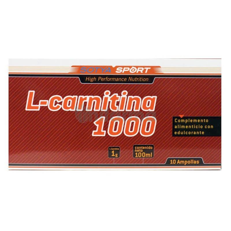 L Carnitina Sotya 1000 mg 10 Ampollas