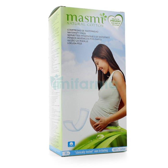 Masmi Compresas Maternidad Post Parto Algodon 10ud