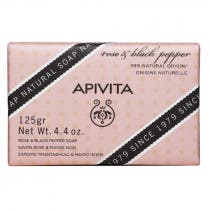 Apivita Jabon Natural con Rosa y Pimienta Negra 125 Gramos