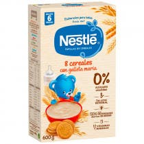 Papilla Nestle 8 Cereales con Galleta Maria Etapa 2 600 gr 6m