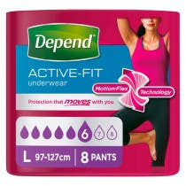 Panal Adulto Active Fit Depend Super L Mujer 8Uds