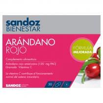 Sandoz Arandano Rojo 30 Capsulas