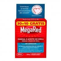 MegaRed Omega 3 Aceite de Krill 500 mg 40 Capsulas