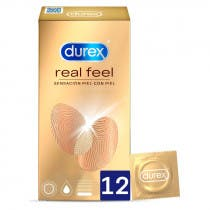 Preservativos Durex Real Feel 12 Unidades