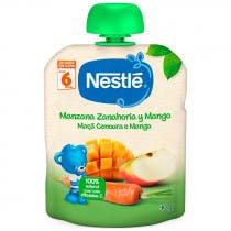 Bolsa de Fruta Nestle Naturnes Manzana, Zanahoria y Mango 90 gr