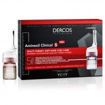 Vichy Dercos Aminexil Clinical 5 Tratamiento Anticaida Hombre 21monodosis 6ml