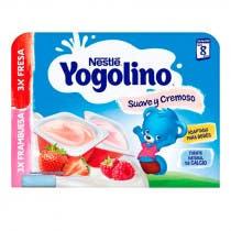 Nestle Yogolino Suave y Cremoso 3 Fresa y 3 Frambuesa 6x60gr