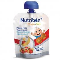 Nutriben FrutaGo Platano, Fresa y Yogurt 90g