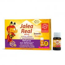 Jalea Real 300 mg Ninos Vitalidad y Defensas Juanola 14 Viales de 10ml
