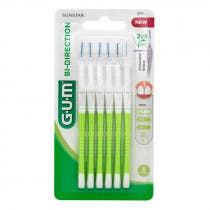 Cepillos Interdentales Bi Direction 0 7mm Gum Verdes 6Uds