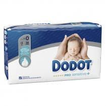 Panales Dodot Pro Sensitive Talla 0 Hasta 3Kg 38Uds
