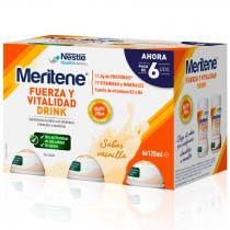 Meritene Drink Fuerza y Vitalidad Sabor Vainilla 6x125ml