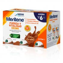 Meritene Drink Fuerza y Vitalidad Sabor Chocolate 6x125ml