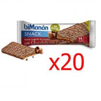 Bimanan Snack Sin Gluten Chocolate con Leche 20 Unidades