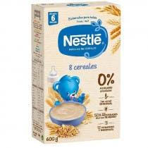 Papilla Nestle 8 Cereales Etapa 2 600 gr 6m
