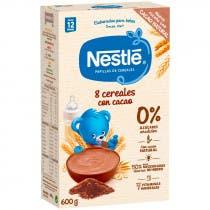 Papilla Nestle Junior 8 Cereales con Cacao 600 gr 12m