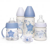 Suavinex Pack Biberones Little Star Azul