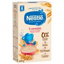 Papilla Nestle 5 Cereales Etapa 2 600 gr 6m