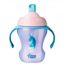 Tommee Tippee Explora Easy Drink Cana Straw Cup Chica Color Rosa  6m 230ml