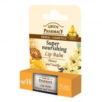 Balsamo Labial Nutritivo Miel y Vainilla Green Pharmacy 3,6Gr