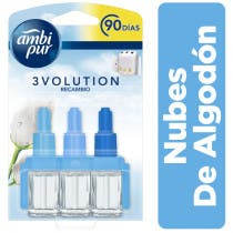 Ambi Pur 3Volution Nubes Algodón Recambio 21ml