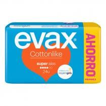 Compresas Evax Cottonlike Super Alas 24Uds 3 Salvaslip